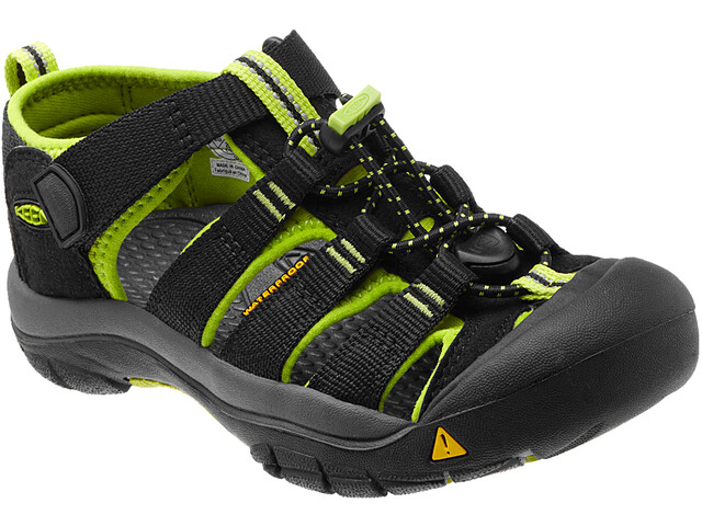 Keen Newport H2 Chaussures Enfant, black/lime green